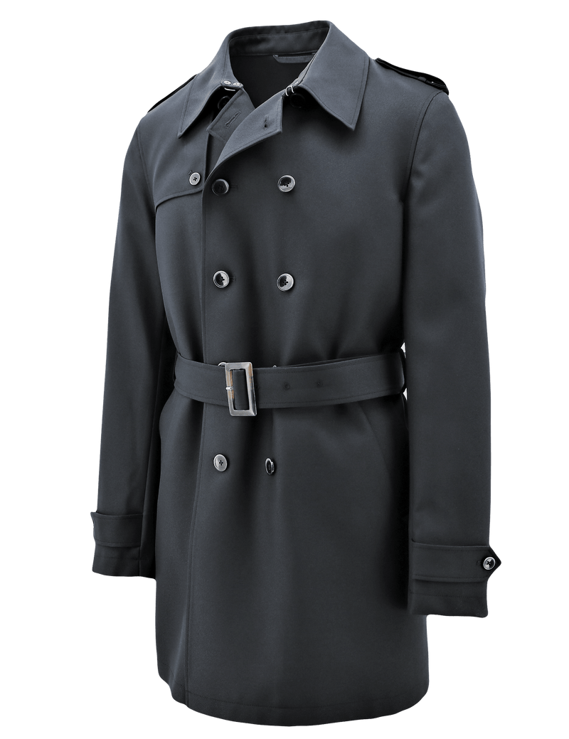 Rain Black Trench Coat