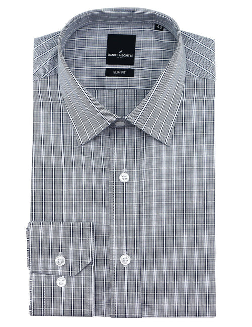 Liberty Business Grey Check Shirt