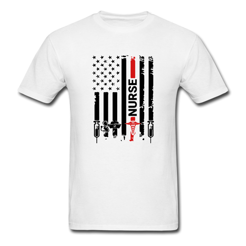 Nurse Flag Tee - white