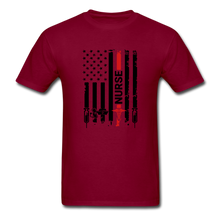 Load image into Gallery viewer, Nurse Flag Tee - burgundy