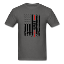 Load image into Gallery viewer, Nurse Flag Tee - charcoal