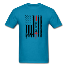 Load image into Gallery viewer, Nurse Flag Tee - turquoise