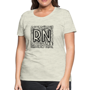 RN T-shirt - heather oatmeal