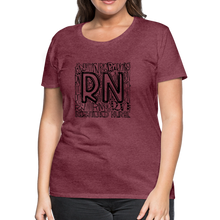 Load image into Gallery viewer, RN T-shirt - heather burgundy