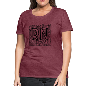 RN T-shirt - heather burgundy