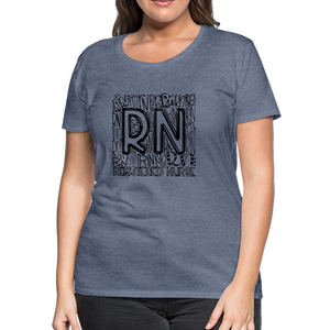 RN T-shirt - heather blue