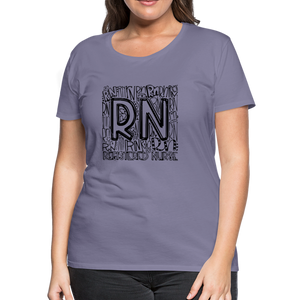 RN T-shirt - washed violet