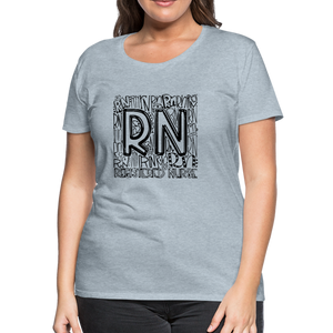 RN T-shirt - heather ice blue