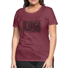 Load image into Gallery viewer, LPN T-Shirt - heather burgundy