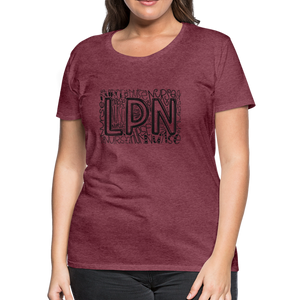 LPN T-Shirt - heather burgundy