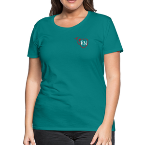 RN Heart Stethoscope T-Shirt - teal