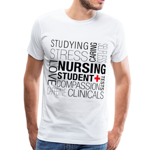 Nursing Student T-shirt - white