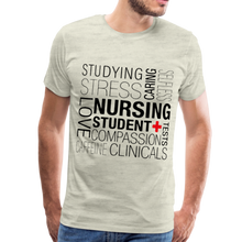 Load image into Gallery viewer, Nursing Student T-shirt - heather oatmeal