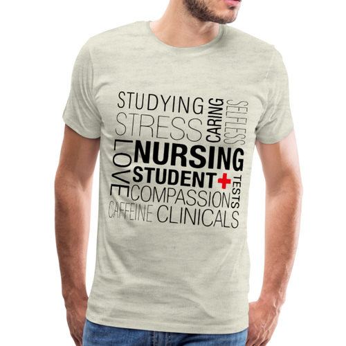 Nursing Student T-shirt - heather oatmeal