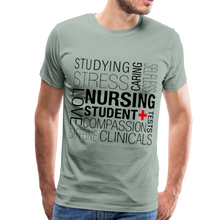 Load image into Gallery viewer, Nursing Student T-shirt - steel green