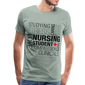 Nursing Student T-shirt - steel green