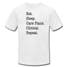 Load image into Gallery viewer, Care Plans Clinical Tee - white