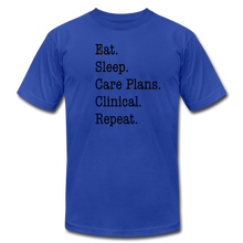 Load image into Gallery viewer, Care Plans Clinical Tee - royal blue