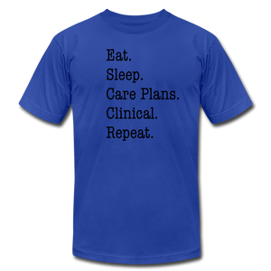 Care Plans Clinical Tee - royal blue