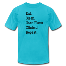 Load image into Gallery viewer, Care Plans Clinical Tee - turquoise