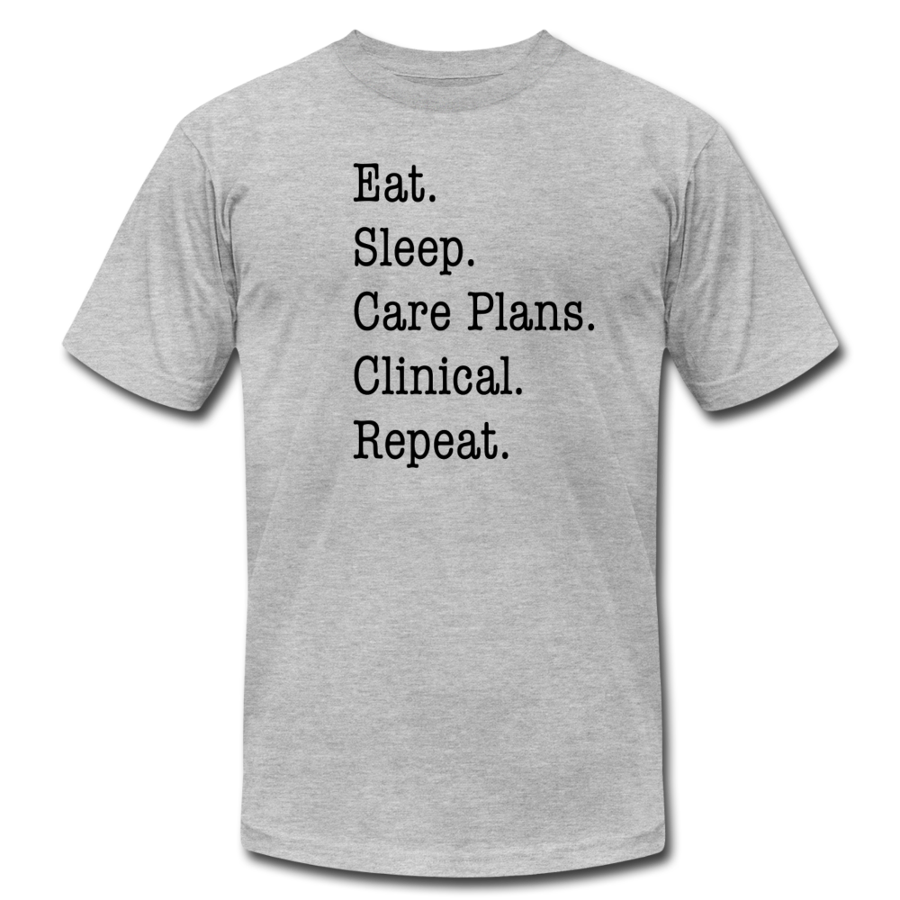 Care Plans Clinical Tee - heather gray