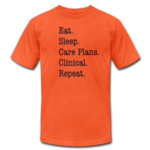 Care Plans Clinical Tee - orange