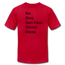 Load image into Gallery viewer, Care Plans Clinical Tee - red