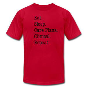 Care Plans Clinical Tee - red