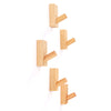 JIYUERLTD Wall Hooks Coat Hooks 5Pack Wood Hook Decorative Hanger For Home Hotel Garage and More.