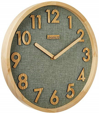 12 inch Wall Clock,Kitchen Clock Wood Clock for Home Office Classroom