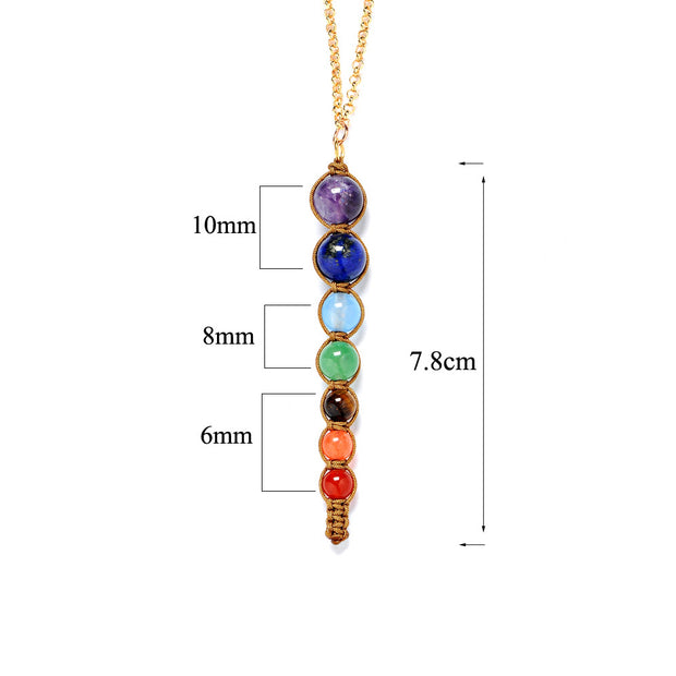 7 Chakra Necklace Energy Healing Beads Spiritual Yoga Jewelry