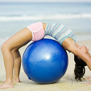 Prodigious Admiral Blue Yoga Ball for Stability and Sore Neck