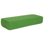 Compressed Kelly Green Yoga Bolster Pillow for Iyengar Yoga