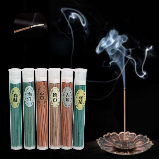 50pcs Natural Sandalwood Incense Burner Sticks for Aromatherapy - Incense & Incense Burners - Chakra Galaxy