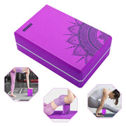 Lotus Mandala Design Purple EVA Soft Yoga Pilates Workout Brick