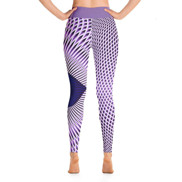 Ajna Third Eye Chakra High Waist Leggings Purple Yoga Pants - Yoga Leggings - Chakra Galaxy