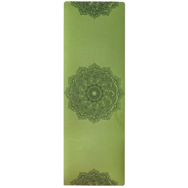 Apple Green Classy Mandala Yoga Mat for Hot Yoga Exercises TPE - Yoga Mats - Chakra Galaxy
