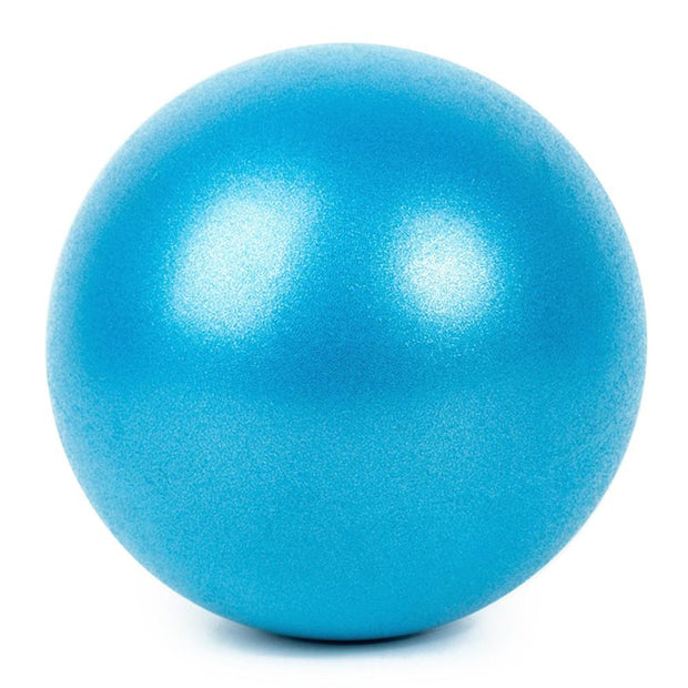 Balanced 25 cm Blue Yoga Ball for Pilates and Indoor Fitness - Yoga Balls - Chakra Galaxy