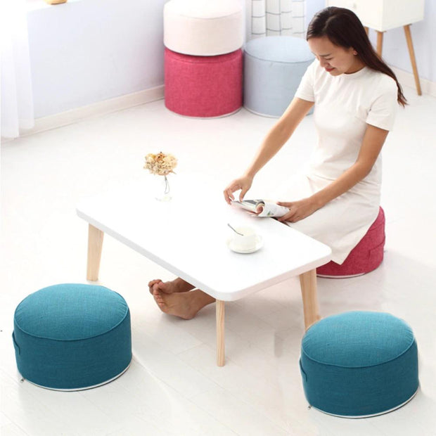 Blue High Cushion Round Strength Sponge Zafu Meditation Seat - Meditation Seats & Cushions - Chakra Galaxy