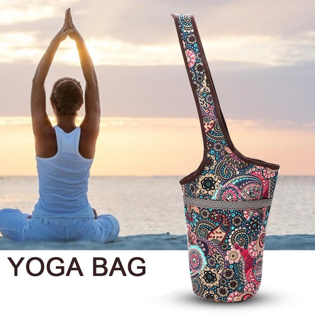 Bohemian Boho Style Pilates & Yoga Practical Mat Tote Shoulder Bag - Yoga Mat Bags - Chakra Galaxy