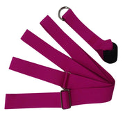 Burgundy Yoga Nylon Strap for Stretch Deepening & Injury Prevention - Yoga Props - Chakra Galaxy