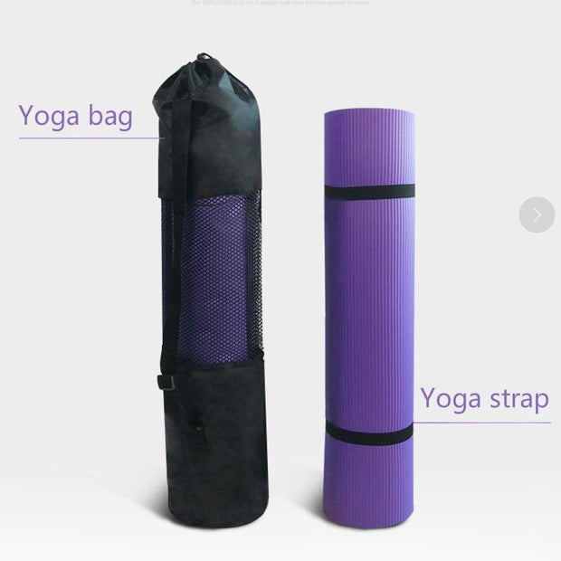 Enlarged Imperial Purple Fitness Mat for Pair Yoga Exercises NBR - Yoga Mats - Chakra Galaxy