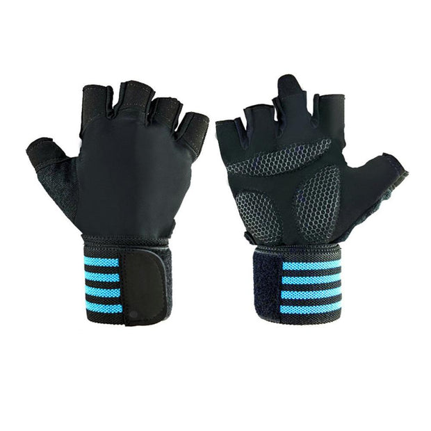 Flawless Turquoise Blue Yoga Workout Gloves with Silicone Palm - Yoga Gloves - Chakra Galaxy
