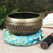 Gandhara Buddhist Scriptures Tibetan Meditation Sound Singing Bowl - Singing Bowl - Chakra Galaxy
