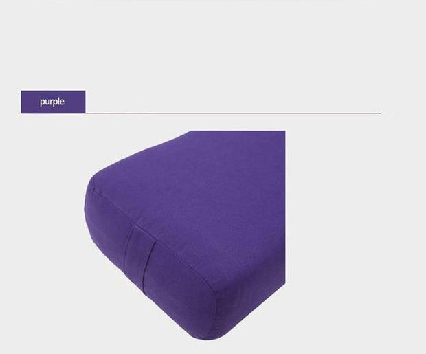 High-Density Plum Purple Yoga Bolster Pillow for Restorative Yoga - Yoga Props - Chakra Galaxy