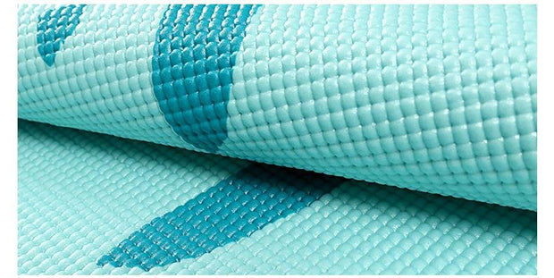 Inspirational Azure Blue Non-Slip Travel Yoga Mat for Fitness PVC - Yoga Mats - Chakra Galaxy