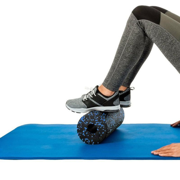Midnight Black + Blue Drizzles Pilates Yoga Workout Foam Roller EVA - Yoga Foam Rollers - Chakra Galaxy