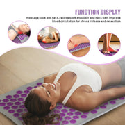 Multi-Purpose Lavender Acupressure Massage Yoga Mat Pillow Set + Free Bag - Yoga Mats - Chakra Galaxy