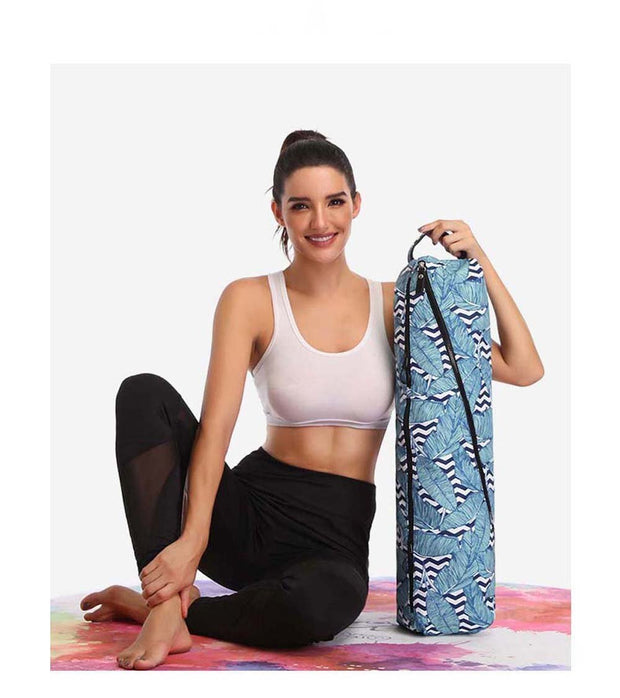 Multifunctional Nature Pattern Printed Yoga Mat Pilates Unisex Carrier Bag - Yoga Mat Bags - Chakra Galaxy