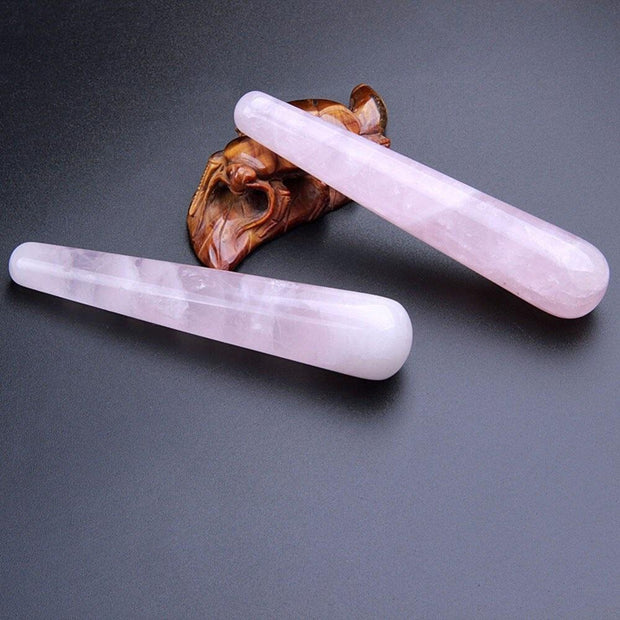 Natural Rose Quartz Stone Healing 1PC 10 CM Crystal Massage Chakra Stick - Chakra Stones - Chakra Galaxy